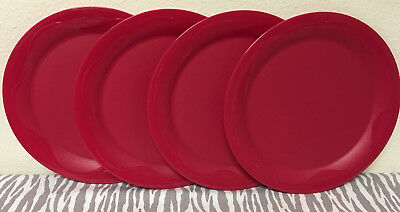 Tupperware Open House Dinner Plates 11  Set of 4 Red Large Dinner Plates New & TUPPERWARE OPEN HOUSE Dinner Plates 11