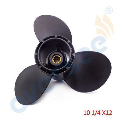 10 1/4X12 Outboard Propeller For Suzuki Marine 20-30HP 58100-96430-019 DT25 DT30