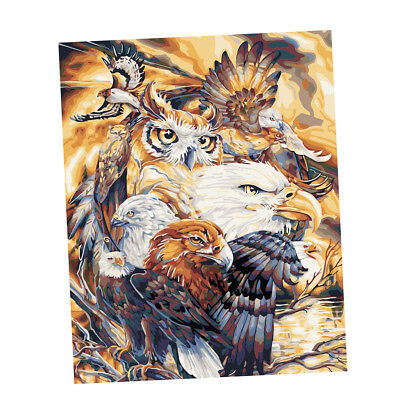 Frameless Oil Painting Paint By Numbers Kit On Canvas for Adults Kids Eagles