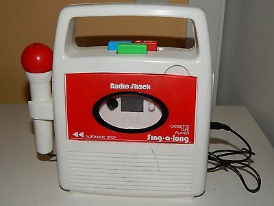 Vintage Radio Shack Sing A Long Cassette Tape Player