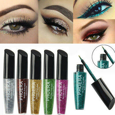 New Sexy Metallic Smoky Eyes Eyeshadow Waterproof Glitter Eyeliner Liquid Makeup