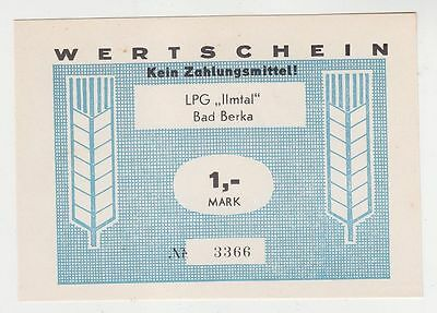 "1 Mark Banknote DDR LPG Geld Bad Berka ""Ilmtal"" (116314)"