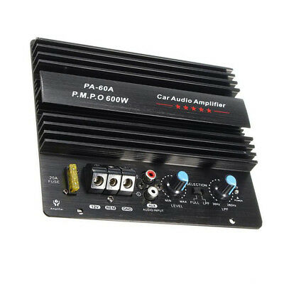 12V Mono 600W Car Audio Amplifier Powerful Bass Subwoofers in-car entertainment