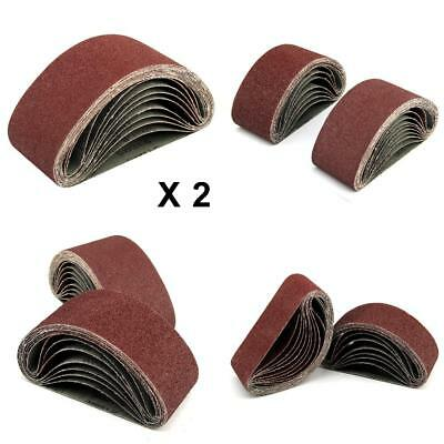 40x Sanding Belts 75X457 mm Mixed Grade 40 60 80 120 Grit Bosch Makita