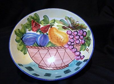 Italian Pottery For Macy's Huge Serving Bowl Great Colors