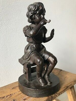 """DAVID BROMLEY """"Blowing Bubbles"""" Bronze Sculpture Edition 2 of 19, Signed"""