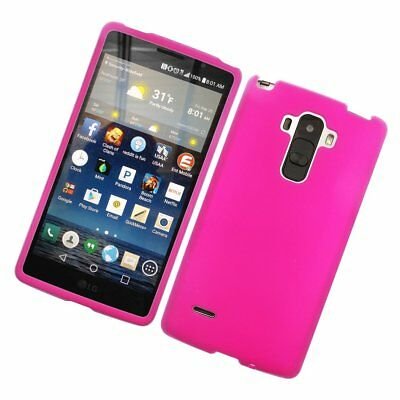 Rubberized Hard Snap-in Case Cover for LG G Stylo LS770 G Vista 2 Hot Pink