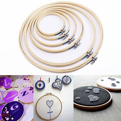DIY Hand Carft Embroidery cross stitch hoop with screw adjust in 6 size UK