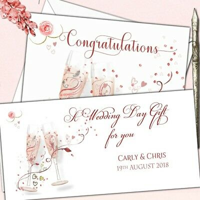 Personalised Wedding Anniversary Engagement Congratulations Card or Money Wallet