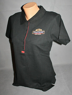 Magners Irish Cider Damen Woman Women Polo Shirt Hemd Gr. M Schwarz Rot NEU OVP