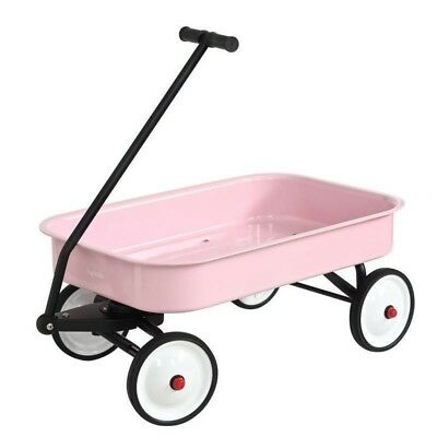 Hip Kids Pink Metal Toy Wagon Retro Steel Outdoor Backyard Play Children