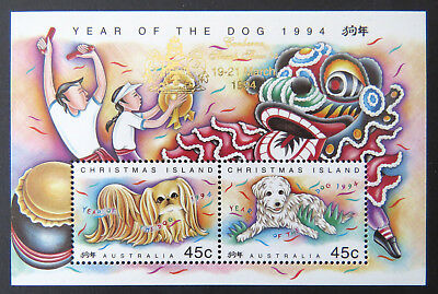 1994 Christmas Island Stamps - Year of Dog - Mini Sheet - Canberra Overprint MNH