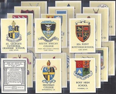 Utc (South Africa)-Full Set- Arms & Crests Of Universities & Schools (L24 Cards)
