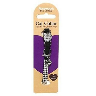 Rosewood Cat Collar, Diamante