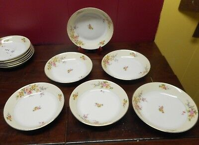 6 Meito NSP China Hand Painted Soup Bowls  Made In Japan Set Of  6