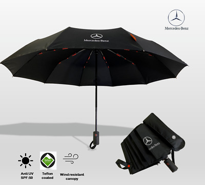 Umbrella Large Strong Windproof Designer Black Red BMW AUDI TESLA MERCEDES BENZ
