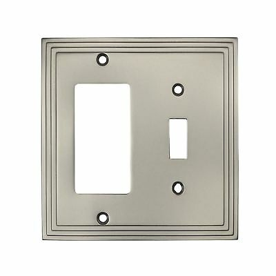 Cosmas 25077-SN Satin Nickel Single Toggle / GFI Decora Rocker Combo Wall Swi...