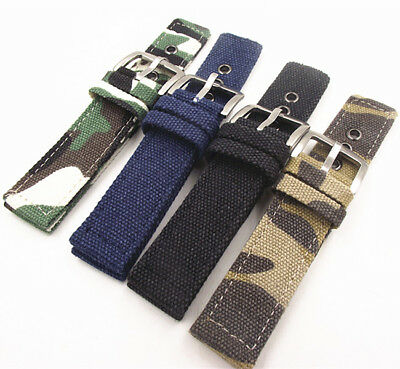 NATO G10  Nylon 2 Piece Strap Strong Watch Band Silver buckle 18-24 MM