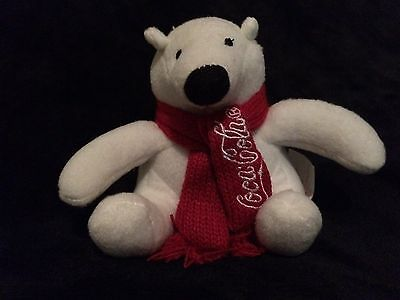 New In Package Coca-Cola Polar Bear Plush Teddy Bear Christmas Collectable