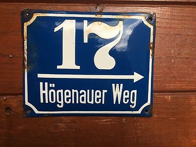 German Street Sign WW2 Road Sign Enamel Sign Old from germany