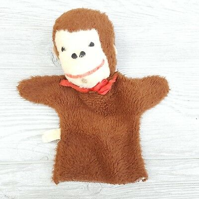 Monkey Hand Puppet Antique Curious George Commonwealth Toy Co Brooklyn NY Plush