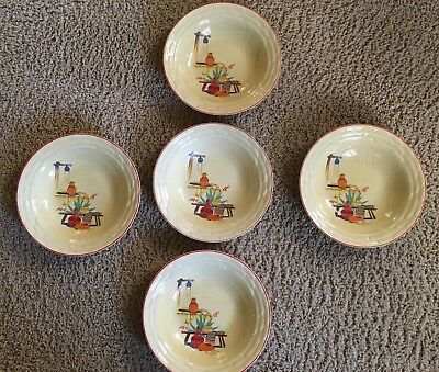"""Mount Clemens, possibly """"old Mexico pattern"""", 8""""  Bowls set of five"""