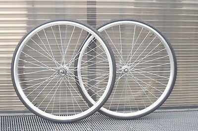 700c Alloy Vintage Wheelset Wheels Fixie Flip Flop SIngle speed Freewheel Fixed