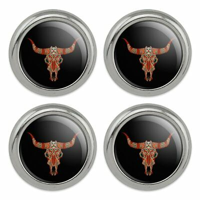 Bull Skull Day Of The Dead Metal Craft Sewing Novelty Buttons - Set of 4