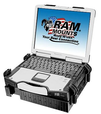 """Base Ram-Mount Universal Laptop Tough Tray For Notebook From 10"""" A 17"""" Ram-234-3"""
