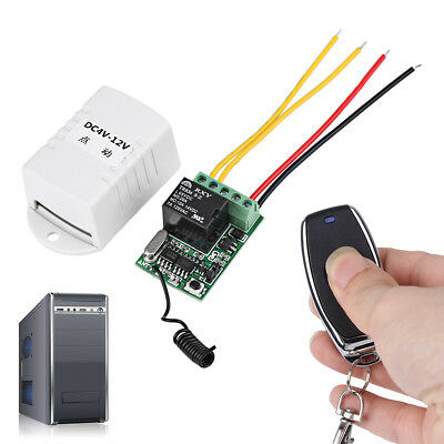 Micro Relay Remote Switch 4V 5V 6V 7.4V 9V 12V Switching Wireless ON OFF 10A zg