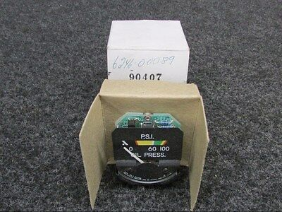 Robinson Helicopter Oil Pressure Meter 14V (NEW) P/N  6246-00089 (SA)
