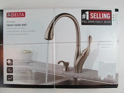 Delta Berkley Brilliance Stainless 19932 Sssd Dst Pull Down Kitchen Faucet New 179 00 Picclick