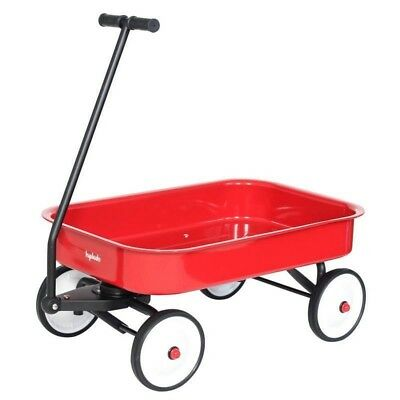 Hip Kids Red Metal Toy Wagon Retro Steel Outdoor Backyard Play Children
