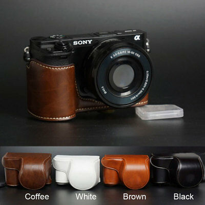 PU leather Camera case bag strap for Sony a6000 A6300 With 16-50mm Lens ONLY