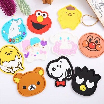Lovely Cartoon Silicone Heat Insulation Coffee Tea Cup Mug Mat Pads Coaster WCC