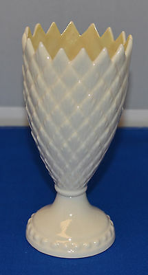 """Very Nice Belleek White Feather Spill Vase 6"""" High - 7th Mark 1980 to 1992"""
