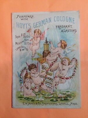 1800's VICTORIAN TRADE CARD - Hoyt's German Cologne Lowell, Mass