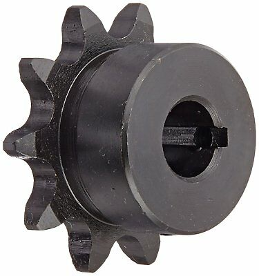 Tsubaki 41B10FH Finished Bore Sprocket, Single Strand, Inch, #41 ANSI No., 1/2""