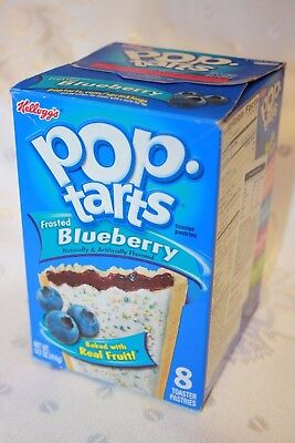 USA Kellogg's Pop Tarts Frosted BLUEBERRY (8 toaster pastries)