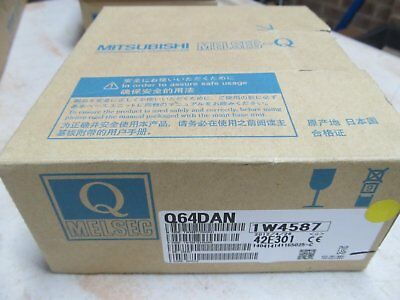 New MelsecQ Q64DAN 4 Point Analog Output Card