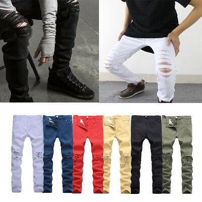 Casual pants 1Pcs new Men's jeans Straight jeans Stretch trousers