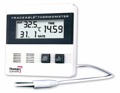 Thomas Traceable Recording Thermometer, with Time/Date/Min/Max Memory, -40 to F