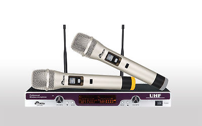 Idolpro Uhf-300 Silver Dual Professional Wireless Karaoke Microphone System