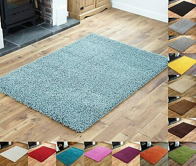 Shaggy Large Xl Silver Grey Soft Runner Rugs Thick Plain Long Pile Bedroom Small