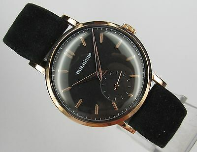 Vintage & Very Fine Jaeger LeCoultre, 18 kt solid gold, made in 50's