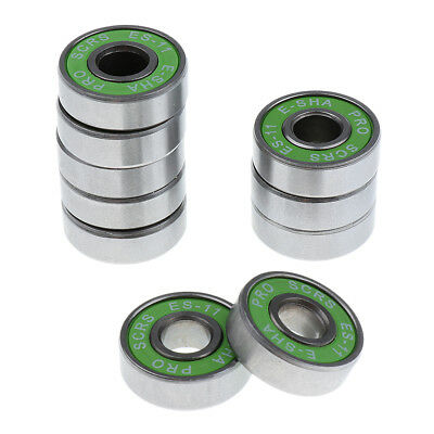 10 Pieces 608 Skateboard Longboard Inline Roller Skate Bearings 8 x 22 mm