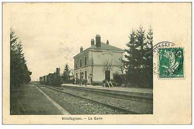 16.villefagnan.n°16.la Gare.edition L Picat.train