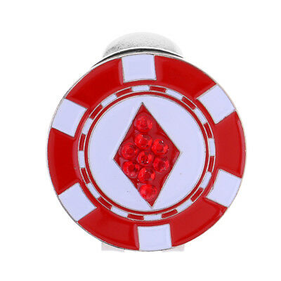 Novelty Alloy Golf Ball Marker Hat Clip Durable Golf Gift Red