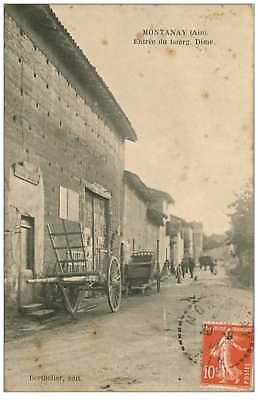 01.montanay.n°37.entree Du Bourg.dime.charbon.taches.rare