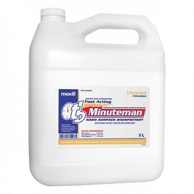tb Minuteman Hard Surface Disinfectant 5L Jug Unscented